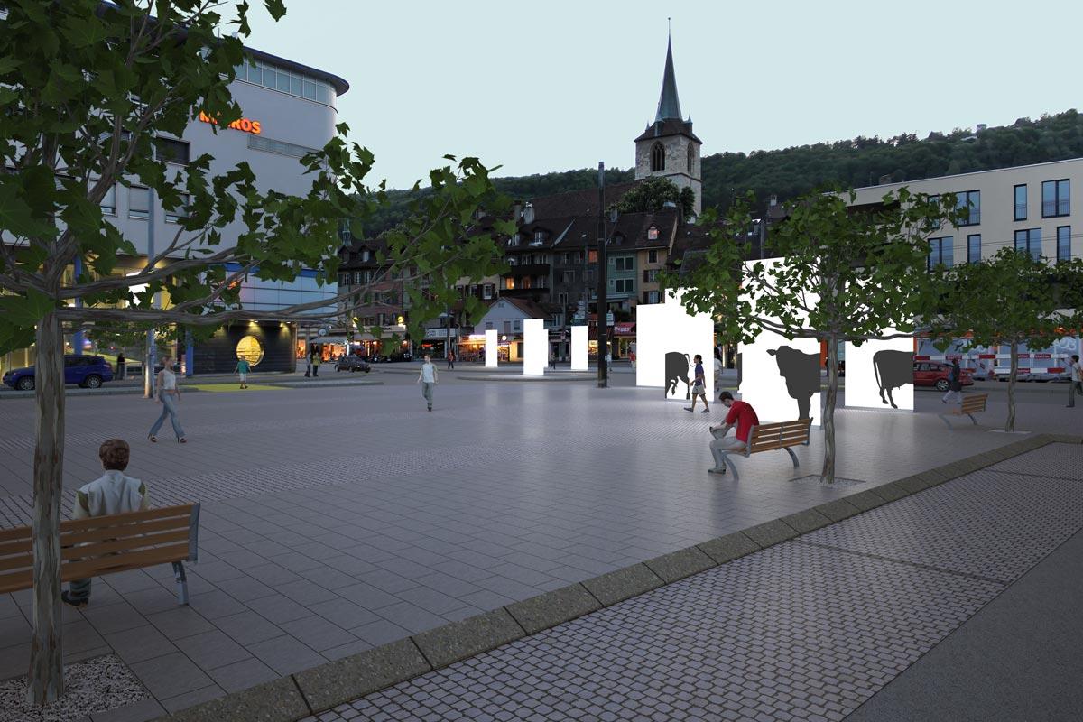 Visualisierung Platzgestaltung - Projektwettbewerb - bauwelt architekten ag, Biel