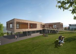 Visualisierung Kindergarten - Projektwettbewerb - bauwelt.architekten, Brügg