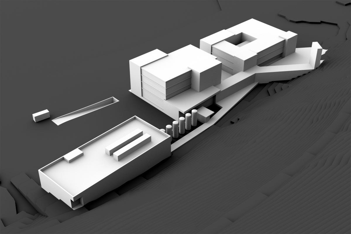 Visualisierung Industrie- und Gewerbehaus - Volumenstudie - Stadler Vogel Architekten AG, Zürich