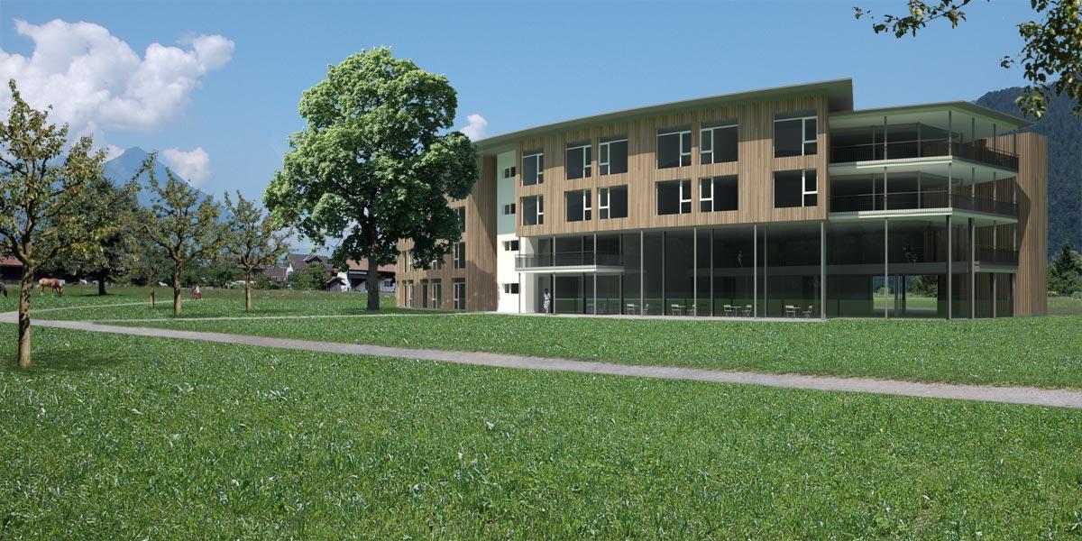 Visualisierung Pflegeheim - Projektwettbewerb - Architekturbüro Andreas Fuchs, Unterseen