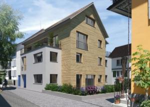 Visualisierung Wohnhaus - Meyer Moser Lanz Architekten AG, Zürich