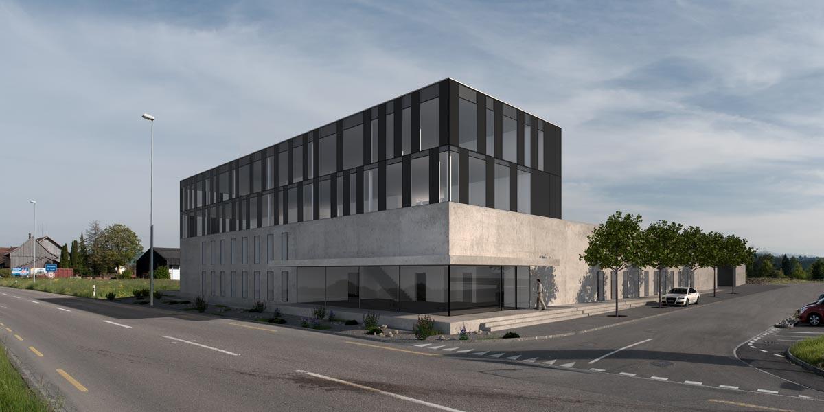 Visualisierung Gewerbehaus - Studienauftrag - Frei & Gmünder AG Architekten, St. Gallen