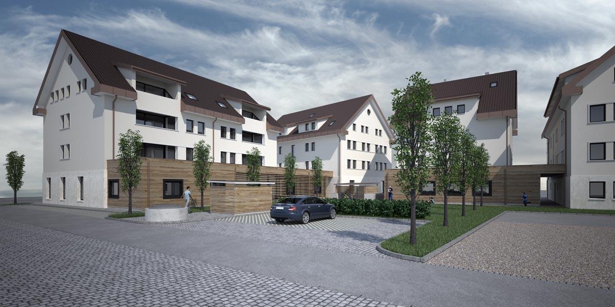 Visualisierung Wohnüberbauung - filippi + partner architektur- und bauleitungs-ag, Mels