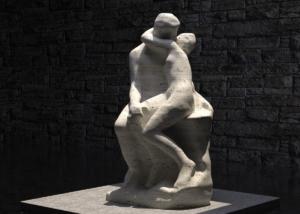 """Visualisierung Interpretation des """"Kusses"""" von Auguste Rodin"""