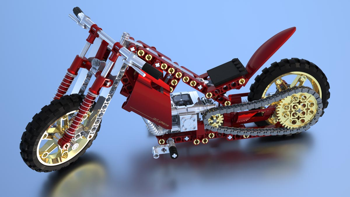 3D-Rendering Lego Technik Mod. 8291-2 (Customized) - MaxwellRender Competition 2011 (Rendering)