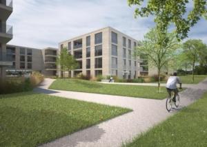 Visualisierung Wohnüberbauung - Architekturwettbewerb - Linearch GmbH, Zürich