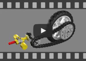 Animation, YouTube-Video, LEGO Technic 8291Motorrad - Antriebswelle und Kette