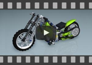 Animation, YouTube-Video, LEGO Technic 8291Motorrad - Funktionalität