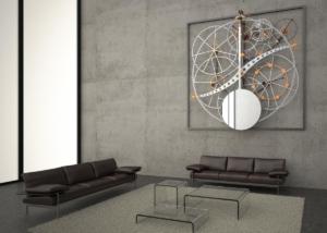 """Visualisierung """"Zeitmaschine"""" in Foyer - schlumpf innovations GmbH, Trimmis"""