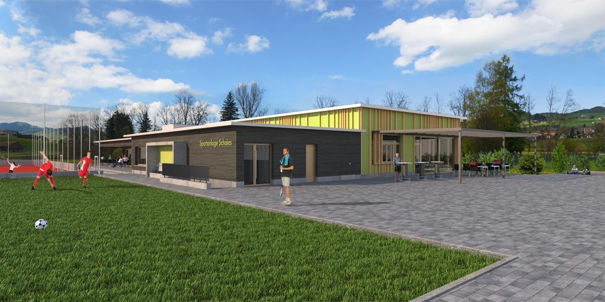 Visualisierung Sportanlage, JB Architekturbüro AG, Appenzell