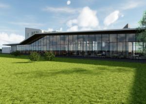 Visualisierung Bistro, Architekturwettbewerb, Marcus Gross & Werner Rüegg, Dipl. Architekten FH/SIA AG, Flims