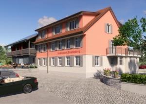 Visualisierung Gasthof, LE Leimer Architekten GmbH, Kreuzlingen