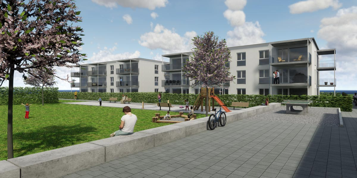 Visualisierung Wohnüberbauung, bauwelt architekten ag, Biel