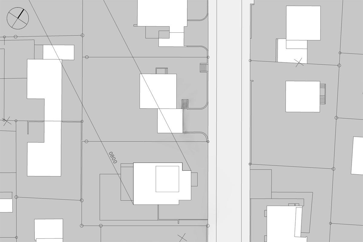 Schattendiagramm, Dauerschatten, Schattenverlauf 08:00 Uhr