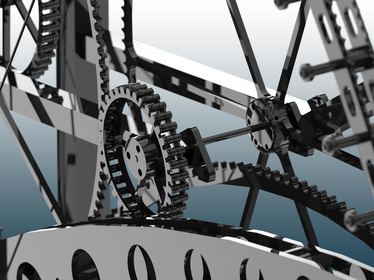 """Visualisierung """"Zeitmaschine"""" Detailaufnahme - schlumpf innovations GmbH, Trimmis"""