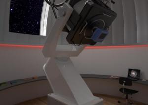 Visualisierung Observatorium bei Nacht - Dr. Christoph Frutiger, Jona