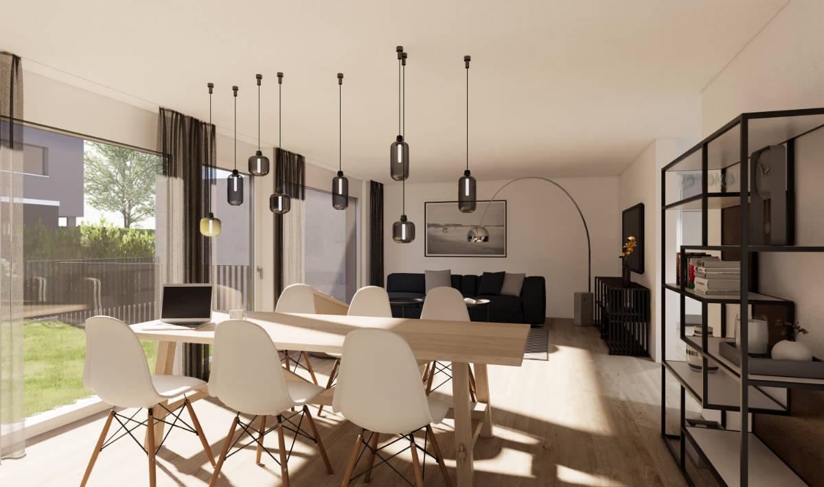 Visualisierung Wohn-/Essbereich - Suter Architekten AG, Birr