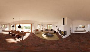 360°-Panorama, Wohraum