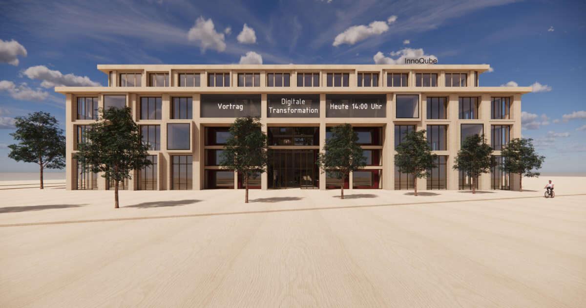 """Visualisierung Architekturwettbewerb """"InnoQube"""", Walk-Through-Video - Ritter Schumacher AG, Chur"""