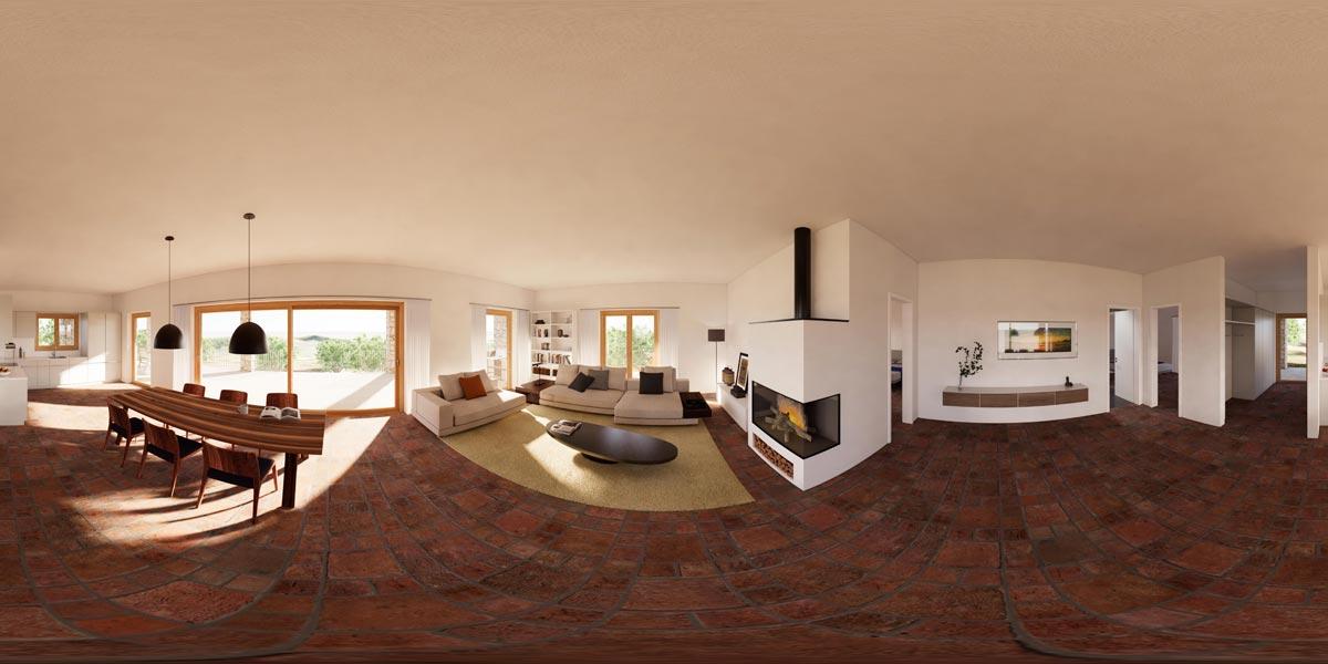Visualisierung Wohnraum   360°-Panorama